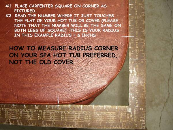 How to measure radius of a spa cover