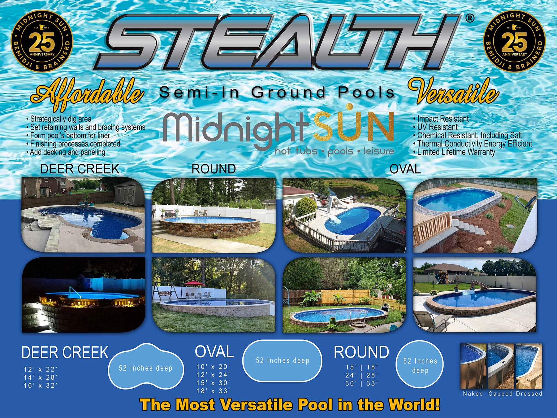 Shop Name Brand Semi In Ground Pools Midnight Sun Pools
