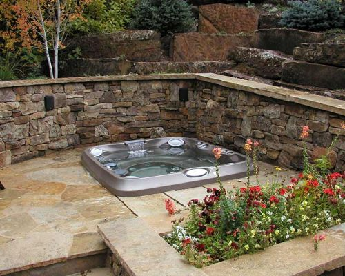 Backyard Jacuzzi Hot Tub Installation Minnesota