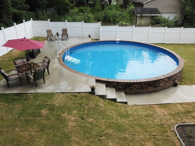 Semi In-Ground Pools in Minnesota