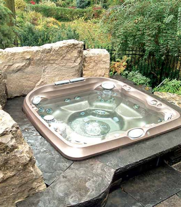 Jacuzzi Hot Tub Backyard Installation Brainerd