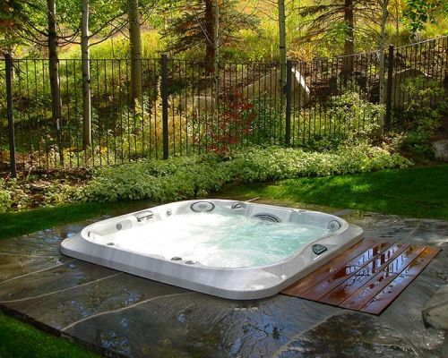 Jacuzzi Hot Tub Forest Installation Minnesota