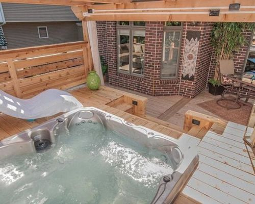 Outdoor Deck Jacuzzi Hot Tub Install Bemidji
