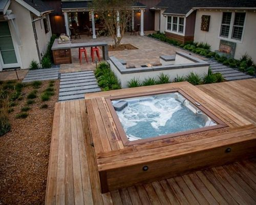 Outdoor Jacuzzi Hot Tub Installation Backyard Minnesota
