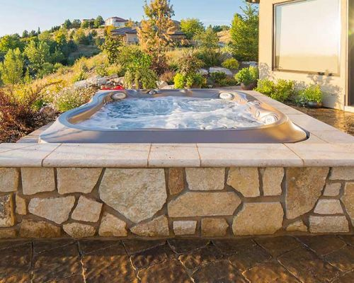 Outdoor Jacuzzi Installation Summer Minnesota