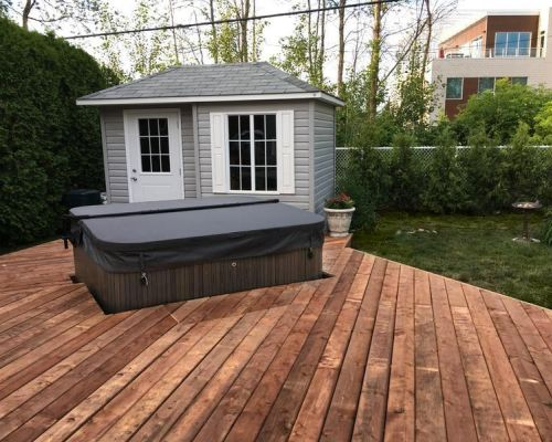 Wooden Patio Install J 335 Minnesota