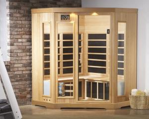 Indoor sauna installation.
