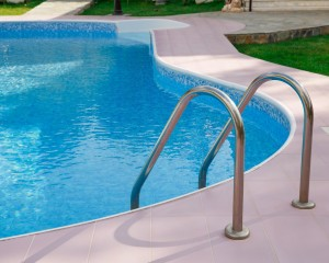 In-ground swimming pool installation.